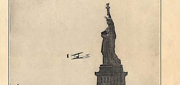 Wilbur Wright's flight around Statue of Liberty
